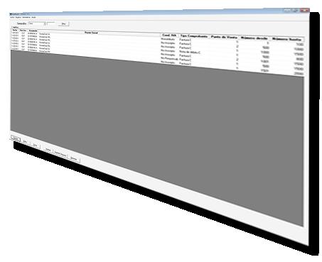 Pantalla del software Presentación F479
